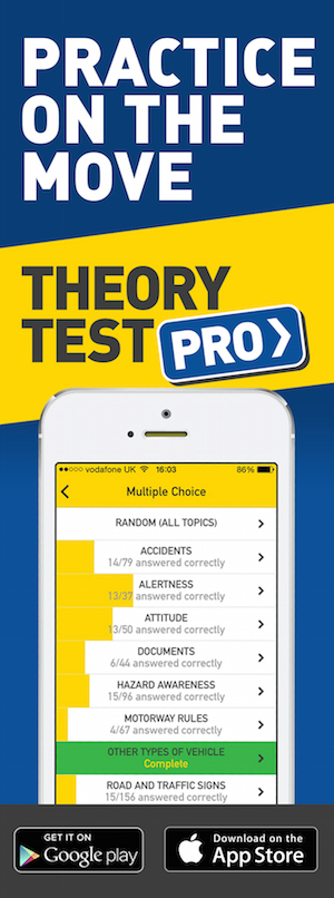 Theory Test Pro in partnership with DLIW